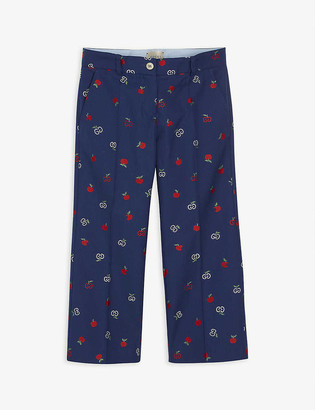Gucci Apple GG cotton trousers 6-12 years