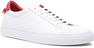 Givenchy Knots Leather Low Sneakers in White & Red | FWRD