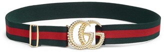 Gucci GG Logo Stripe Belt