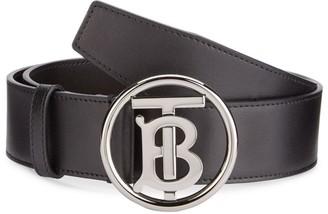 Burberry Logo Leather Belt