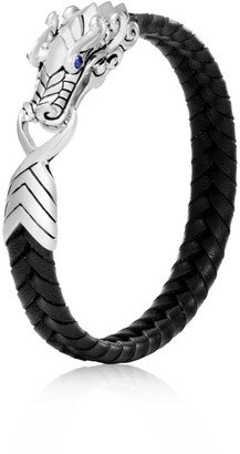 John Hardy Sterling Silver Leather Legends Bracelet