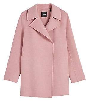 Theory Women's Double-Faced Overlay Coat