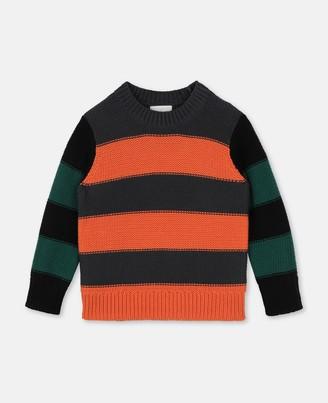 Stella Mccartney Kids Striped Cot/Wool Sweater, Men's
