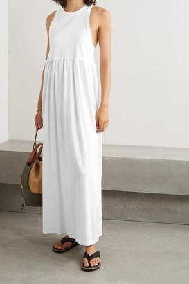 Ninety Percent Net Sustain Organic Cotton-jersey Maxi Dress - White