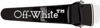 Off-White Off White Black Logo Hair Clip