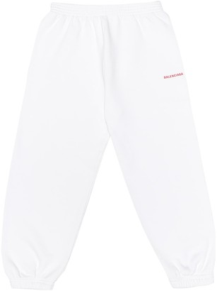 Balenciaga Kids Cotton-jersey trackpants