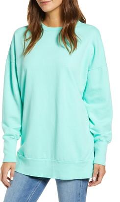Caslon Side Slit Cotton Sweatshirt