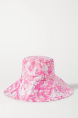 Faithfull The Brand Frederikke Tie-dyed Linen Sunhat - Pink
