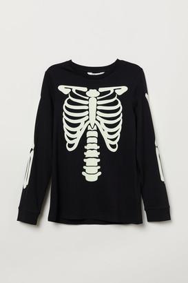 H&M Printed Jersey Shirt - Black