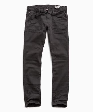 Todd Snyder Slim Fit 5-Pocket Garment Dyed Stretch Twill in Faded Black