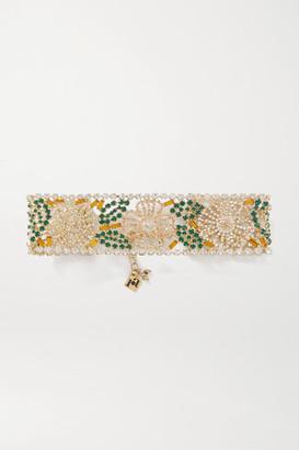 Rosantica Briscola Gold-tone Crystal Choker - Green