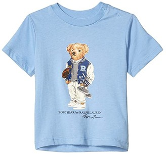 Polo Ralph Lauren Bear Cotton Jersey Tee (Infant) (Blue Lagoon) Boy's Clothing