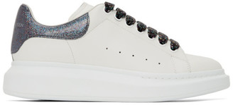 Alexander McQueen SSENSE Exclusive White and Black Oversized Sneakers