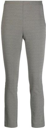 Rag & Bone Cropped Geometric Pattern Trousers