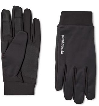 Patagonia Logo-Print Wind Shield Gloves