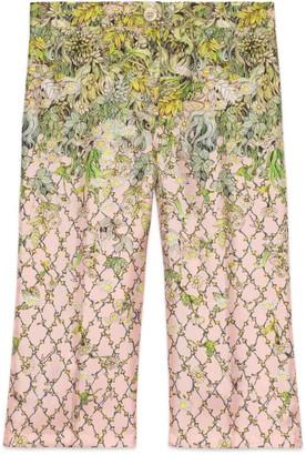 Gucci Children's Yuko Higuchi print silk pant