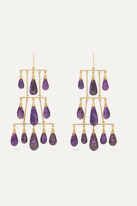 Pippa Small 18-karat Gold Sugilite Earrings