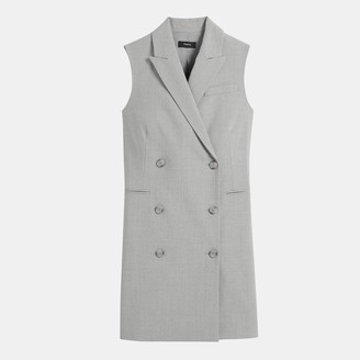 Theory Stretch Wool Sleeveless Blazer Dress