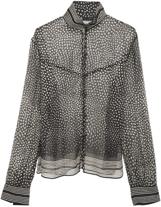 Rag & Bone Libby Polka-dot Silk-georgette Blouse