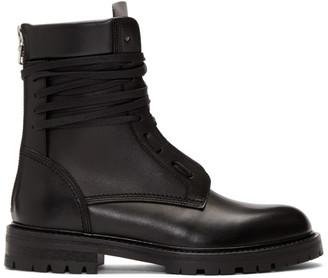 Amiri Black Combat Boots