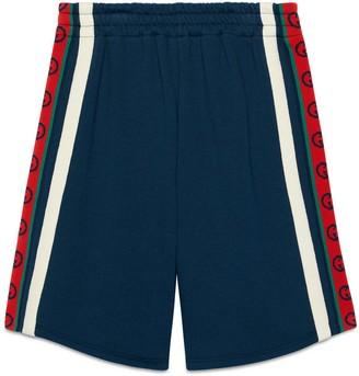 Gucci Children's cotton shorts with Interlocking G