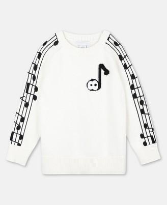Stella Mccartney Kids Music Notes Cot/Wool Sweater, Men's