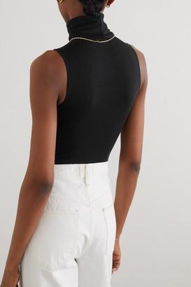 Wolford Stretch Modal-blend Turtleneck Thong Bodysuit - Black
