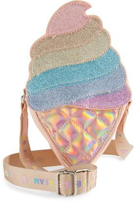 Omg Accessories OMG Glitter Ice Cream Crossbody Bag