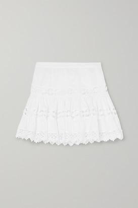 Charo Ruiz Kids - Greta Crocheted Lace-paneled Cotton-blend Skirt - White
