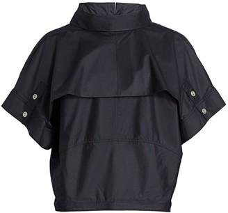 3.1 Phillip Lim Foldover Collar Dolman Sleeve Top