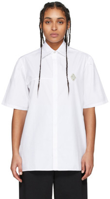 A-Cold-Wall* White Rhombus Badge Short Sleeve Shirt