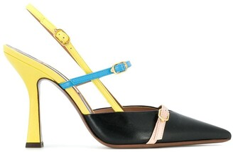 L'Autre Chose colour block slingback pumps