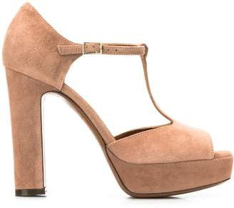 L'Autre Chose Mary Jane peep-toe pumps
