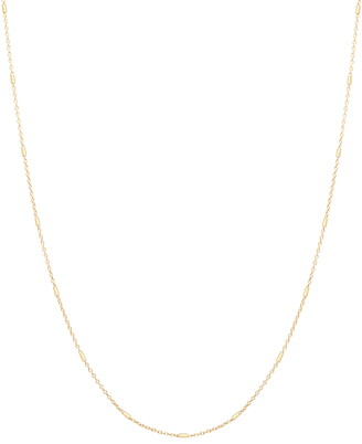 Chicco Zoe 14k Gold Cable & Bar Chain Necklace