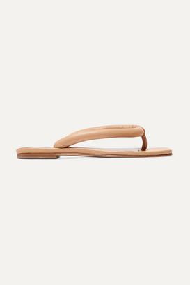 STAUD Rio Leather Sandals - Camel