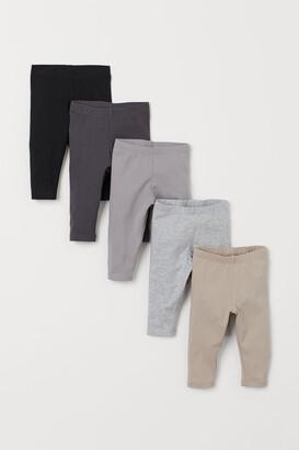 H&M 5-pack Jersey Leggings - Gray