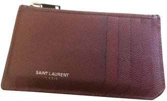 Saint Laurent Red Leather Small bags, wallets & cases