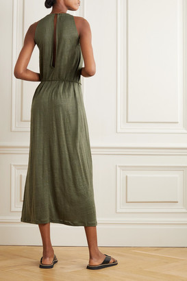 Ninety Percent Linen Midi Dress - Green