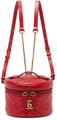 Gucci GG Marmont Mini Leather Backpack - Womens - Red