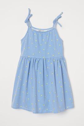 H&M Patterned Cotton Dress - Blue