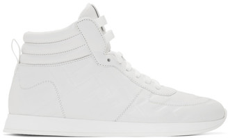 Fendi White Nappa Forever High-Top Sneakers