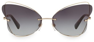 Valentino Allure 64MM Butterfly Sunglasses