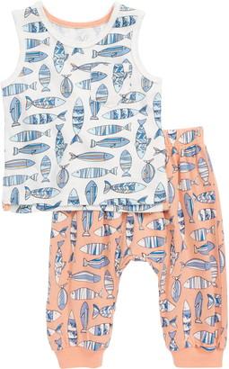 Peek Aren't You Curious Fish Graphic Tank & Jogger Pants Set