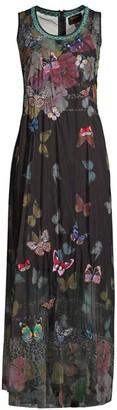 Johnny Was Biya Toqlira Butterfly Mesh Dress