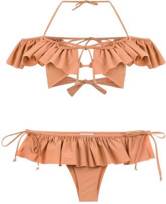 AMIR SLAMA Ruffled Bikini
