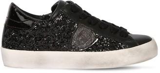 Philippe Model GLITTERED LEATHER SNEAKERS