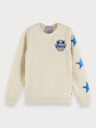 Scotch & Soda Melange Artwork Sweatshirt   Girls