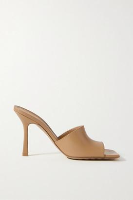 Bottega Veneta Leather Mules - Sand
