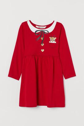 H&M Printed Jersey Dress - Red
