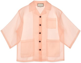 Gucci Silk organdy jacket